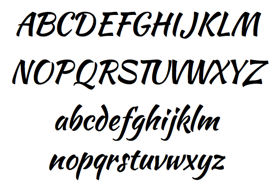 Script Letter C Font The tail of the c has been