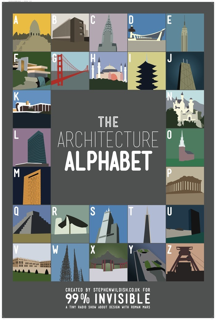 Architecture Alphabet by Stephen Wildish