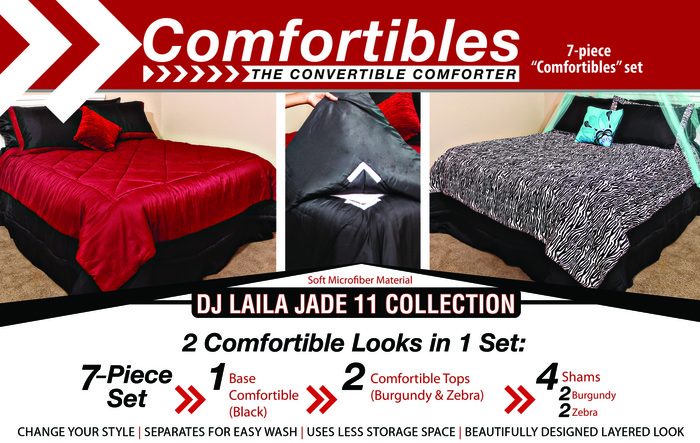 Comfortibles, The Convertible Comforter (DJ Laila Jade 11 Collection)