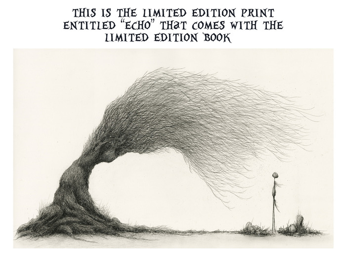 THE LIMITED EDITION BOOK ALSO INCLUDES MUSIC BY ELUVIUM. PLEASE CLICK HERE TO FIND OUT MORE INFORMATION ABOUT HIM (HE PROVIDED THE MUSIC FOR MY KICKSTARTER VIDEO AS WELL)