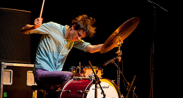 Greg Saunier: guru, album mixer, drummer of Deerhoof, spirit guide