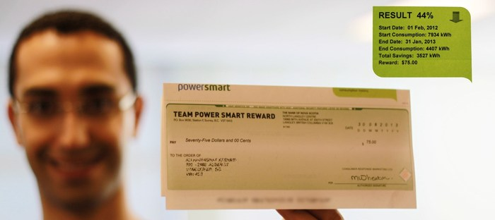 Ali got a $75 reward check from his utility for saving 44% on his annual electricity use,  thanks to Neurio!