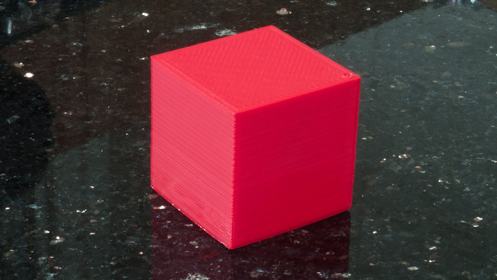 20mm Calibration Cube @ 60mm/s / .1mm Layer Height in Inferno PLA