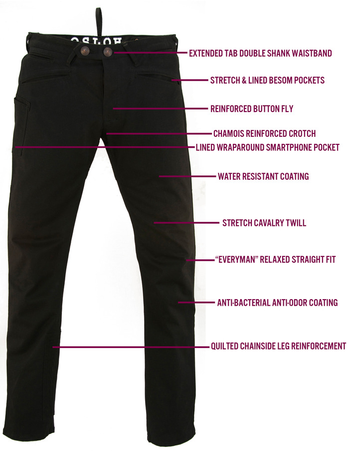 Lane Trouser Features (front view)