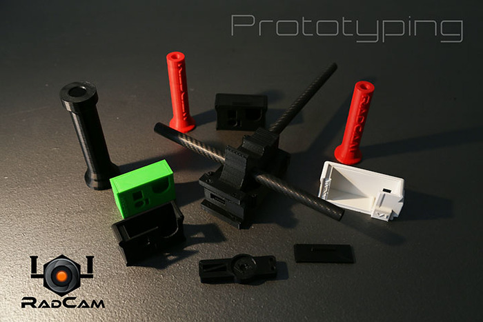 Prototyping phases of the RadCam Sport