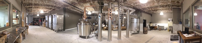 Panaroma of our Distillery Production Floor