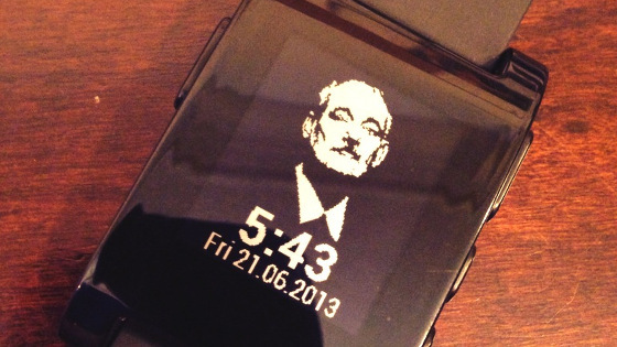 Pebble Bill Murray Watchface