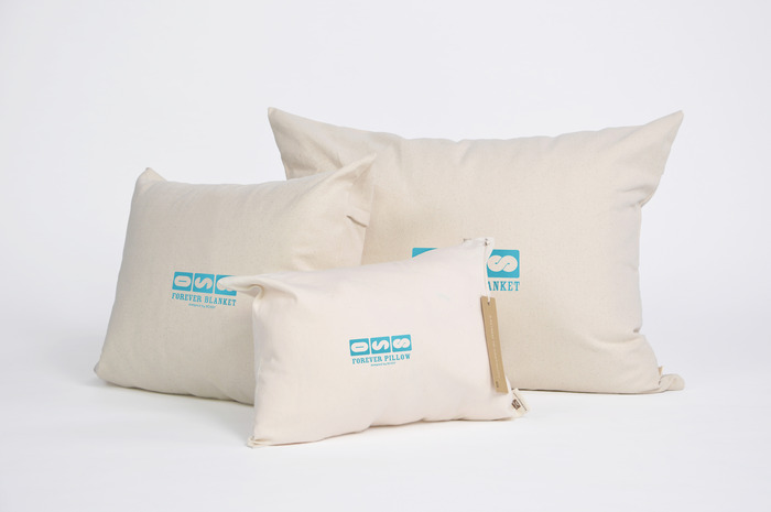 Forever Pillow comes in a compact, custom designed pillow case for traveling.