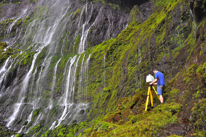 Scanning in Waialeale Crater, Kauai, Hawaii