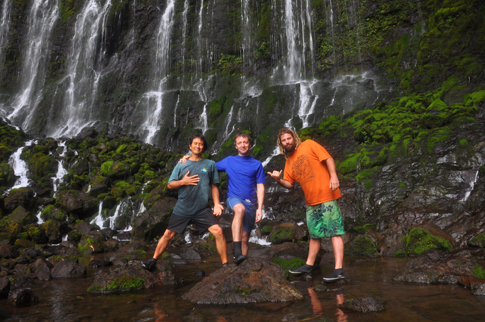 My team of helpers on the Kauai trip, Danny and Dave (I'm in the middle!)