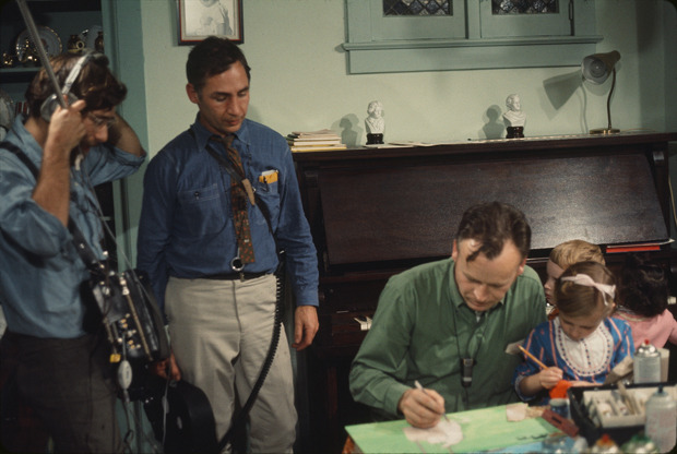 From left, director David Grubin, director Robert M. Young, and artist William Kurelek