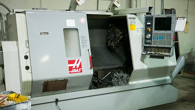 "Our Haas CNC Lathe ...it has a 16"" Chuck!"