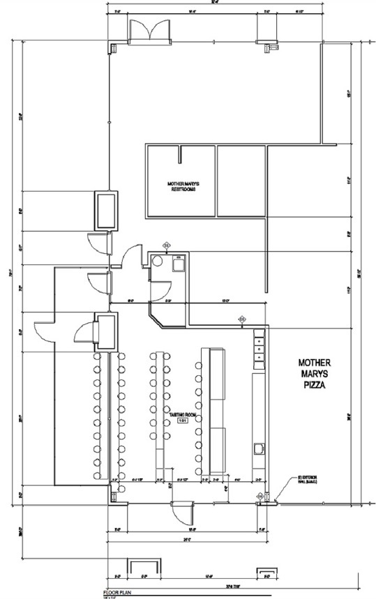 Floor plan of Taproom