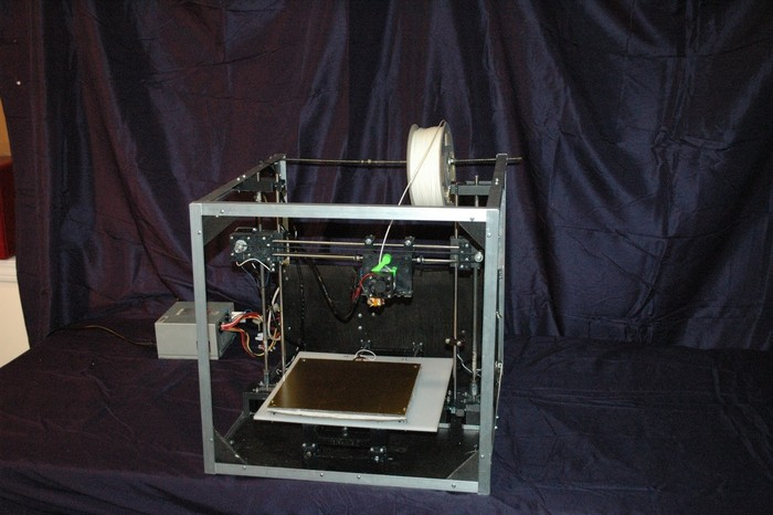Asterid 3D printer prototype view 001