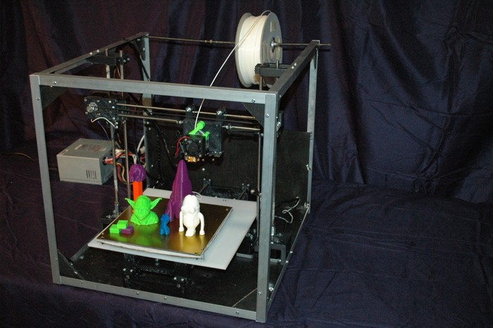 Asterid 3D printer prototype view 002