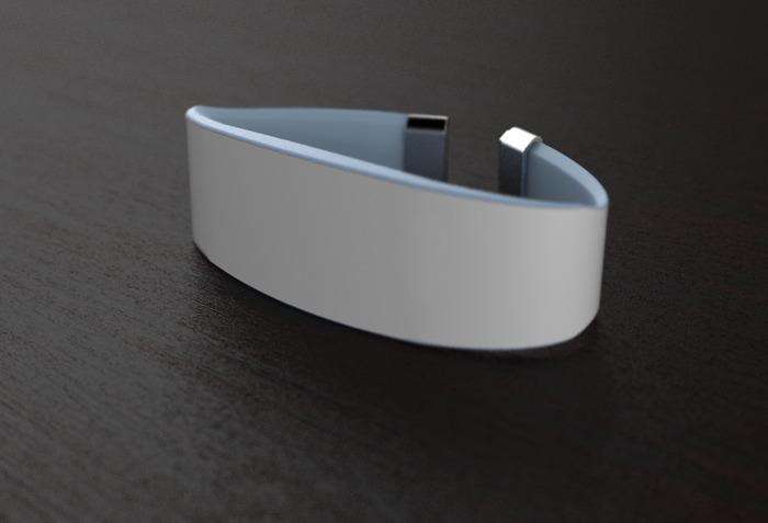 3D printed wristband mockup