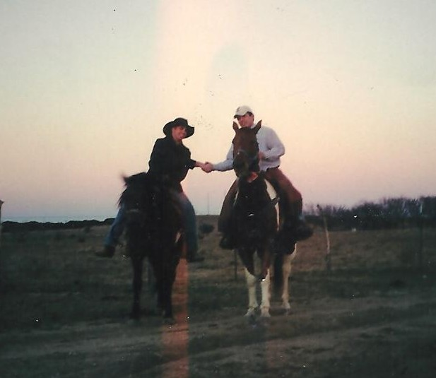 Shaking hands on the agreement that we would one day run a ranching operation together.