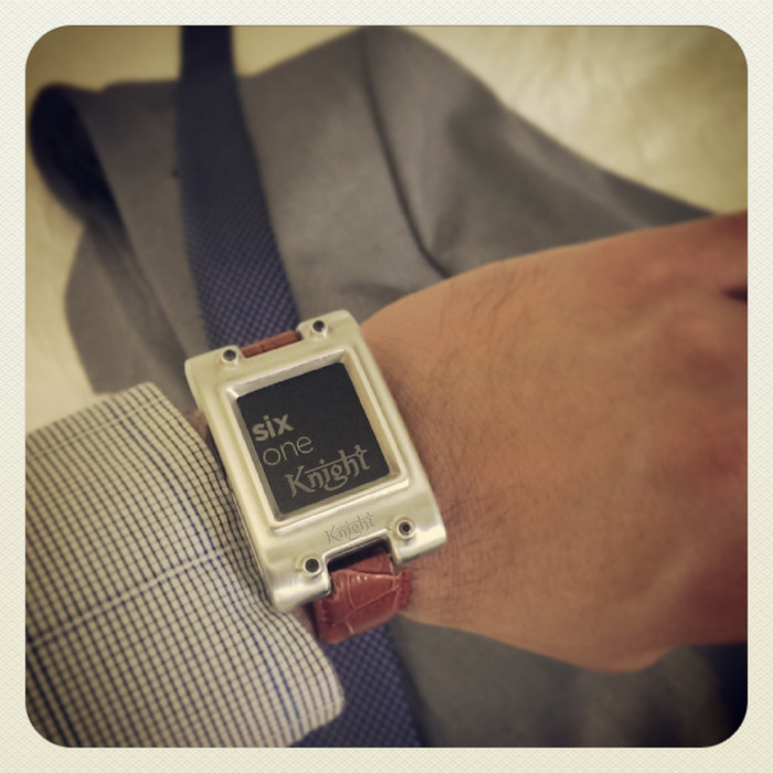 Wearing my Pebble knighted on a business trip