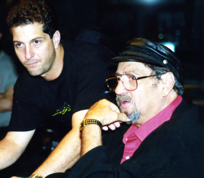 Denny and his father, Tommy at first day of shooting in 1996