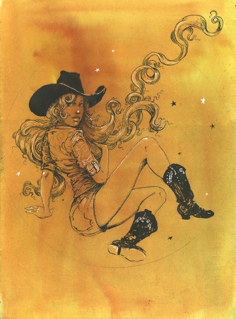 Original pen and ink by Molly Crabapple. $1999 reward.