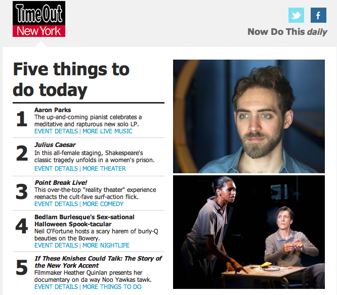 Timeout new york pick 5 things to do today kickstarter for Things to do new york today