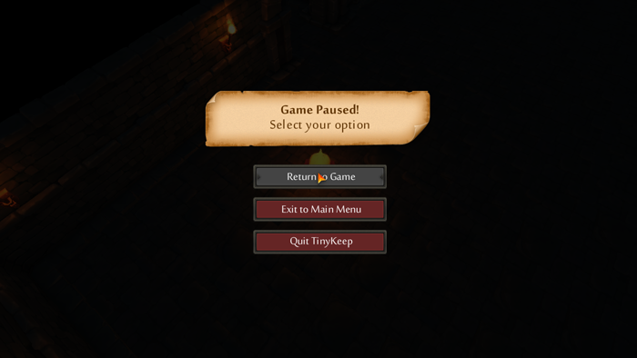 More UI stuff implemented, this time the in-game pause menu, because some sad people out there will probably want to quit playing this game at some point...