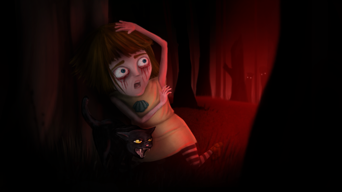 Fran Bow concept art by Killmonday