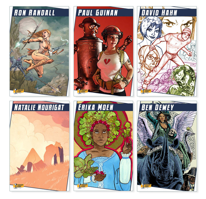 The covers for the individual art books.