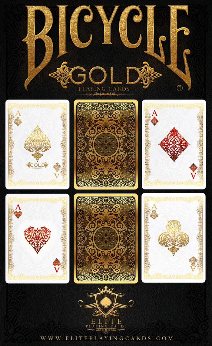 GOLD Bicycle® Playing Cards Deck By Elite Playing Cards