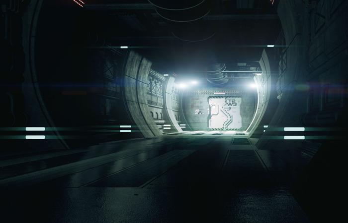 'Airlock Corridor' Concept Art by David Sander