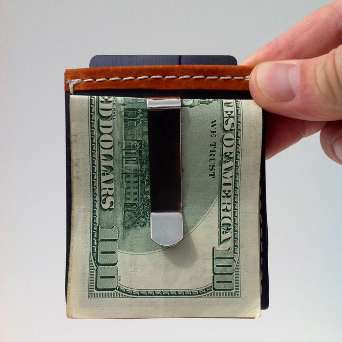 Design your own VIATOR GEAR RFID ARMOR™ handcrafted kanagroo leather money clip example.