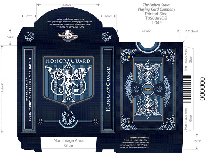 Navy Blue Honor Guard Deck
