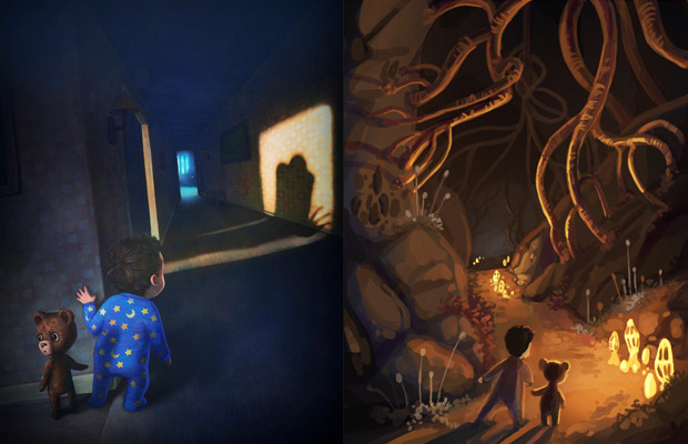 Among The Sleep concept art by Krillbite