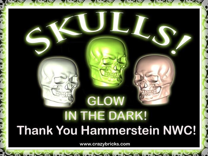 SKULLS Glow In The Dark!