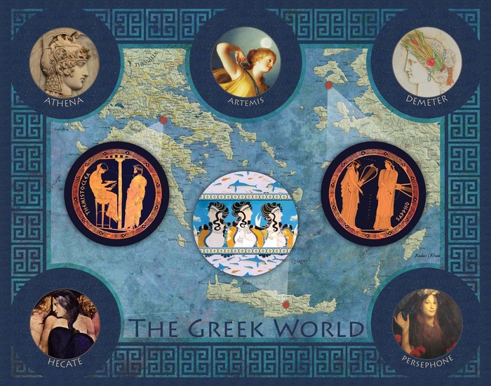The Greek World, Hecate version:  available as a digital download, 8x10 print, or 11x14 print.