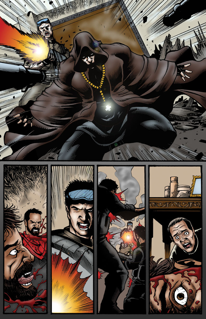 CruZader & Co. burst on the scene like action-packed gangsta ninjas. Chapter 5 continues.