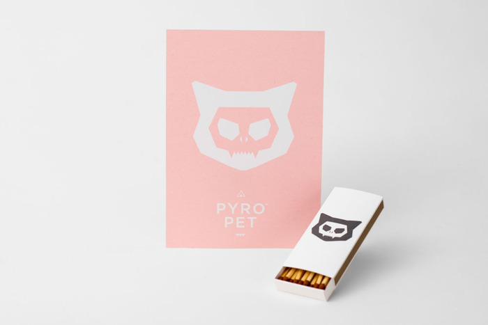 PyroPet Postcard + PyroPet matchbox