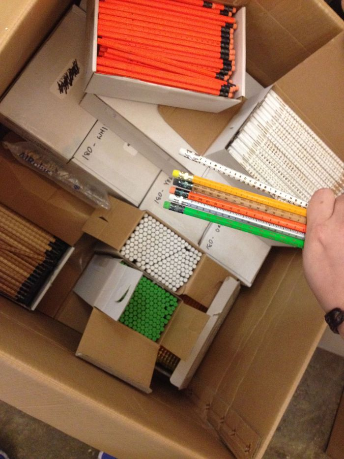 So this is what 3600 pencils looks like.