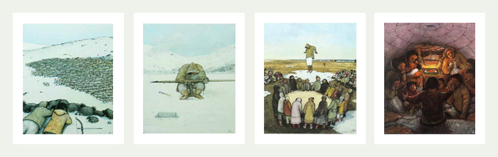Original lithographic print from William Kurelek's Arctic Series, donated by the estate and signed by William Kurelek's son, Stephen Kurelek - only 4 are available
