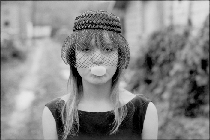 "Tiny blowing a bubble (during ""Streetwise""), Seattle, Washington, 1983"