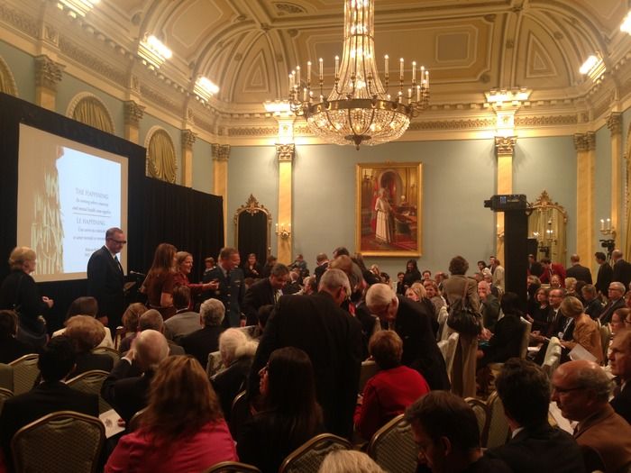 "Screening of ""William Kurelek's The Maze"" presented by the Governor General of Canada, at Rideau Hall in Ottawa, Oct. 9th 2013, to raise discussion of issues surrounding mental health"