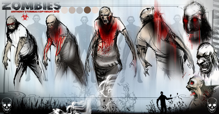 Anthony Sturmas created these great concept shots of Hunger zombies past the point of no return