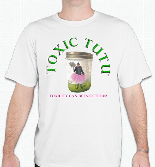 A Pledge of $50 gets you this Toxic Tutu T. Also comes in Black