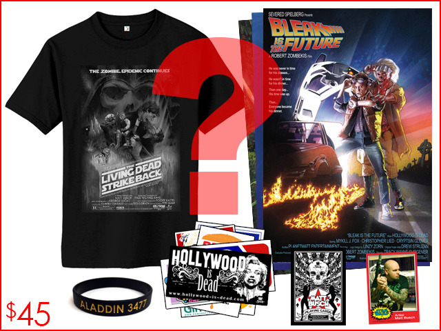 5.) THE MYSTERIOUS PACKAGE. The Hollywood-is-Dead shirt and art prints may or may not be the one pictured. That's why it's called the mysterious package, and who doesn't love a mystery?