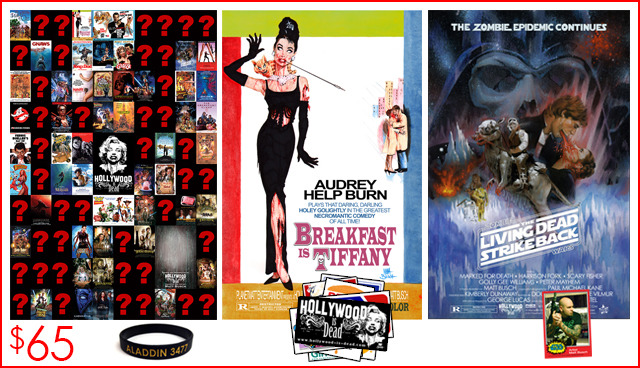 "8.) THE MOVIE POSTER COLLECTOR PACKAGE: The exclusive Hollywood-is-Dead catalog poster comes signed and sketch remarqued by Matt Busch! All 3 of these are 24"" X 36"" movie poster size!"