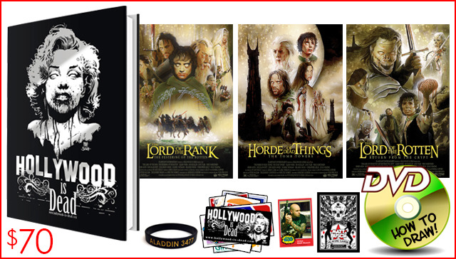 9.) THE LORD OF THE ROTTEN PACKAGE. Get the entire trilogy of art prints, plus the new hardcover book!