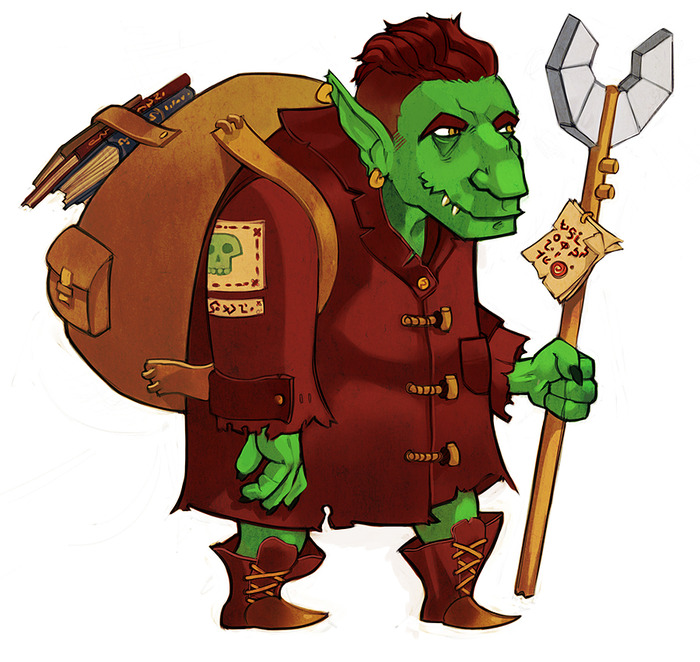 """Goblin guy""; example art from Jonathan Choby, the monster and hireling illustrator!"