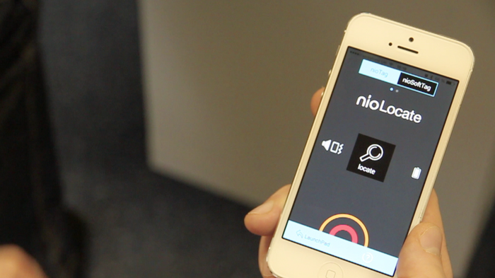nio Locate includes a radar to find your lost wallet or purse