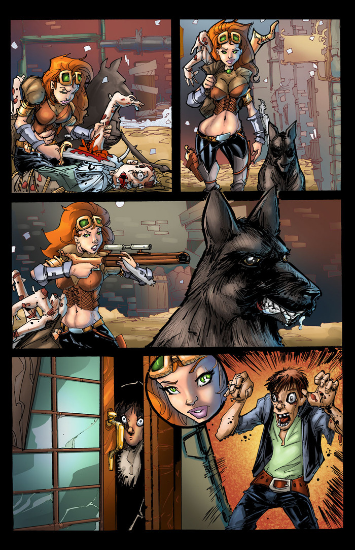 Page 3. Art and inks by Randy Kintz, colors by John Hunt.
