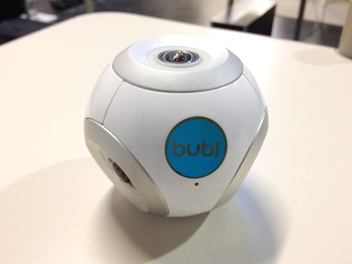 the white bublcam - will have grey button on delivery